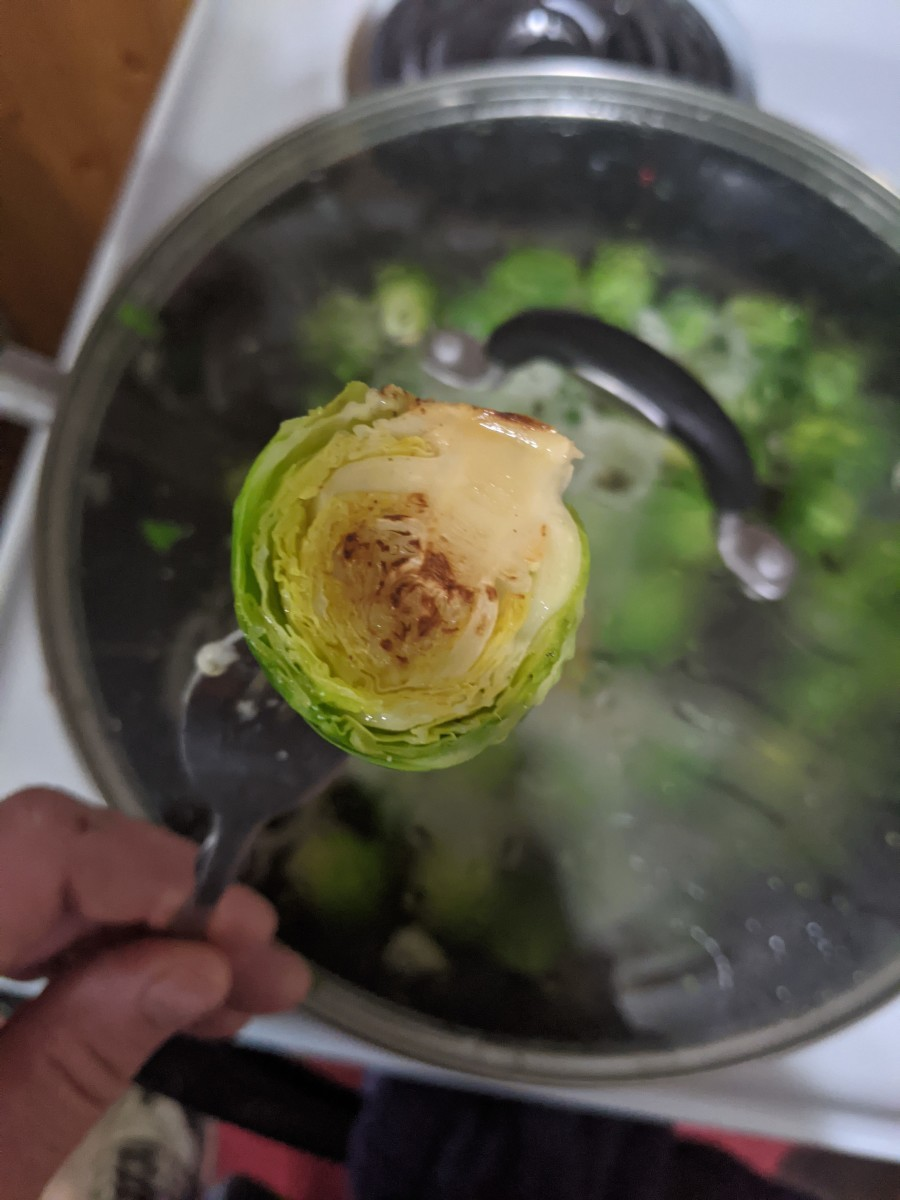 nice browning on brussels sprout