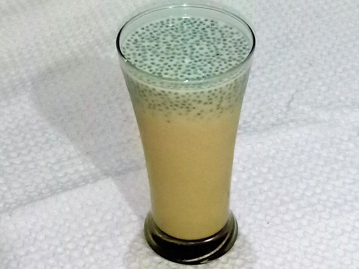 Sabja Milkshake