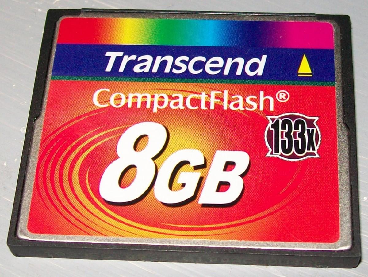 An 8GB CF card