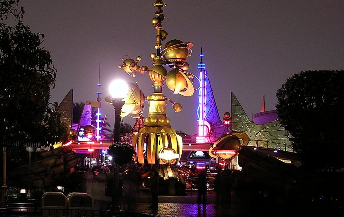 Tomorrowland at Disneyland in Anaheim, California