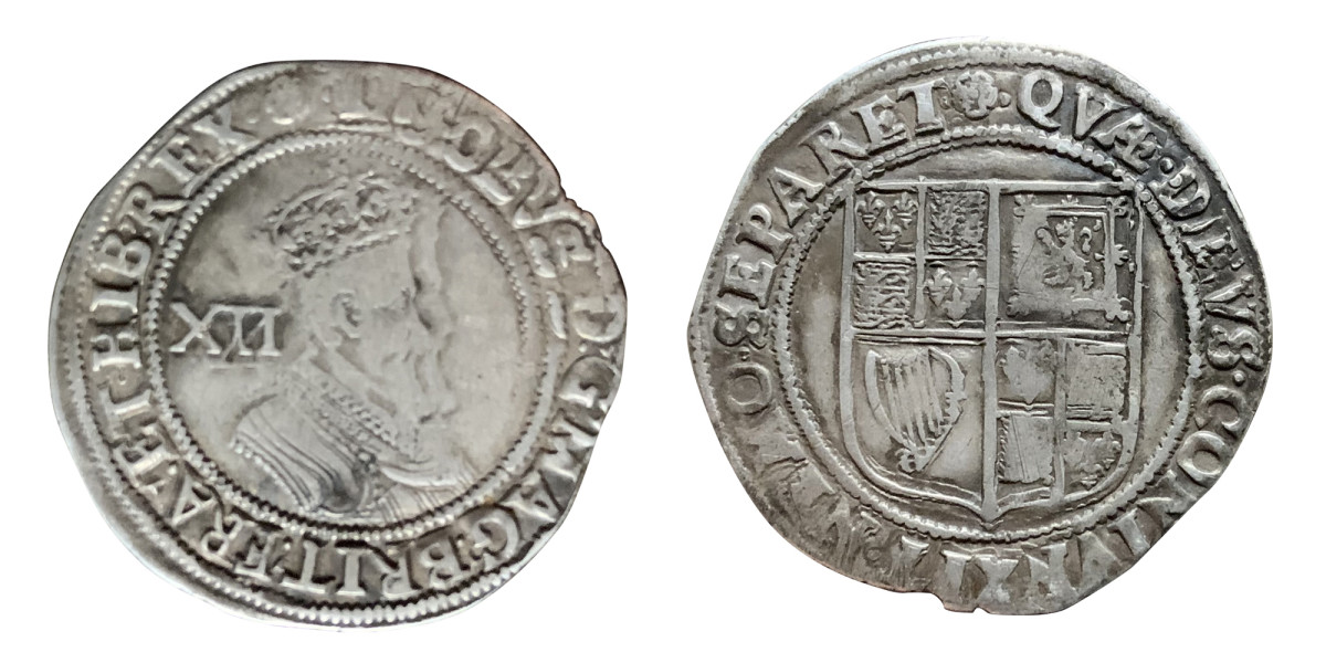 No Date (1605-1606) King James I English shilling coin.