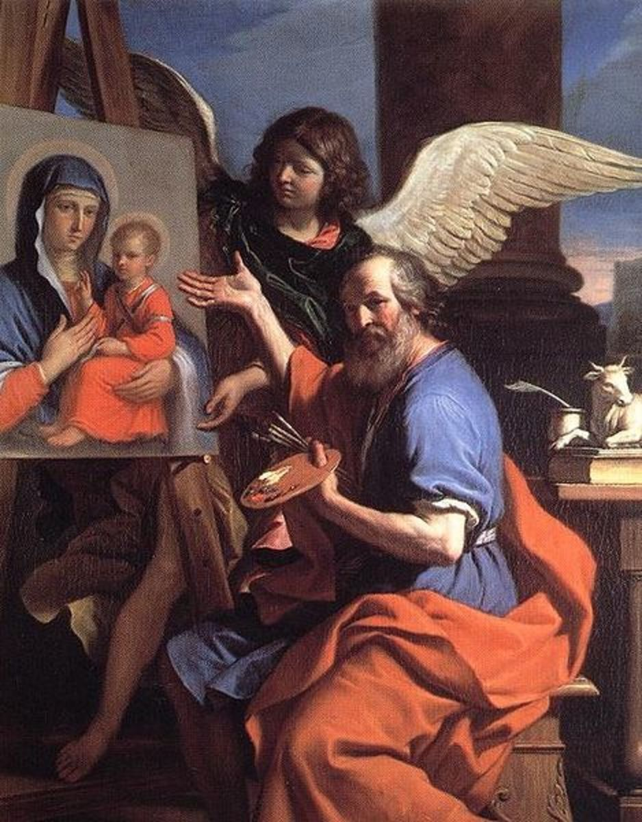 """St. Luke with a painting of Mary"" - by Guercino (1653)"
