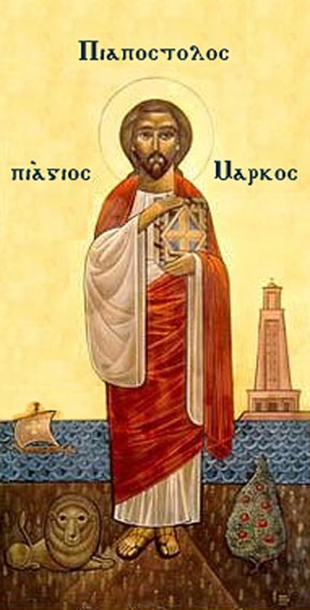 Coptic icon of Saint Mark