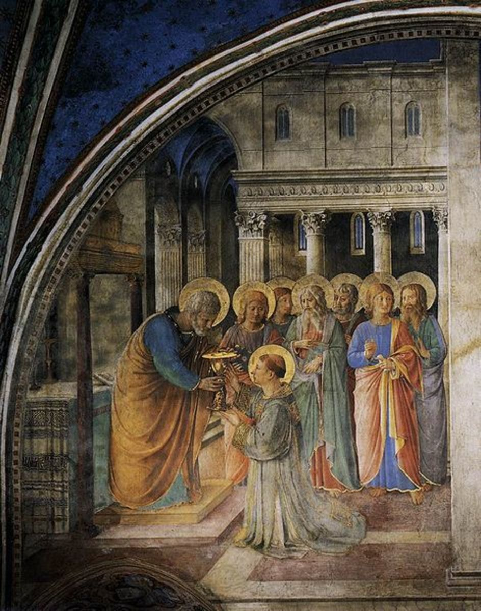 """Saint Peter Consecrating the Seven Deacons"" - fresco by Fra Angelico - Niccoline Chapel - Vatican"