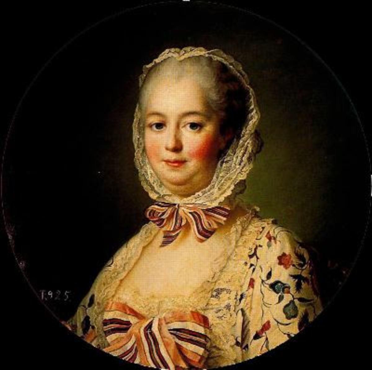 Madame de Pompadour's memorial portrait by J.H. Drouais. 1764.