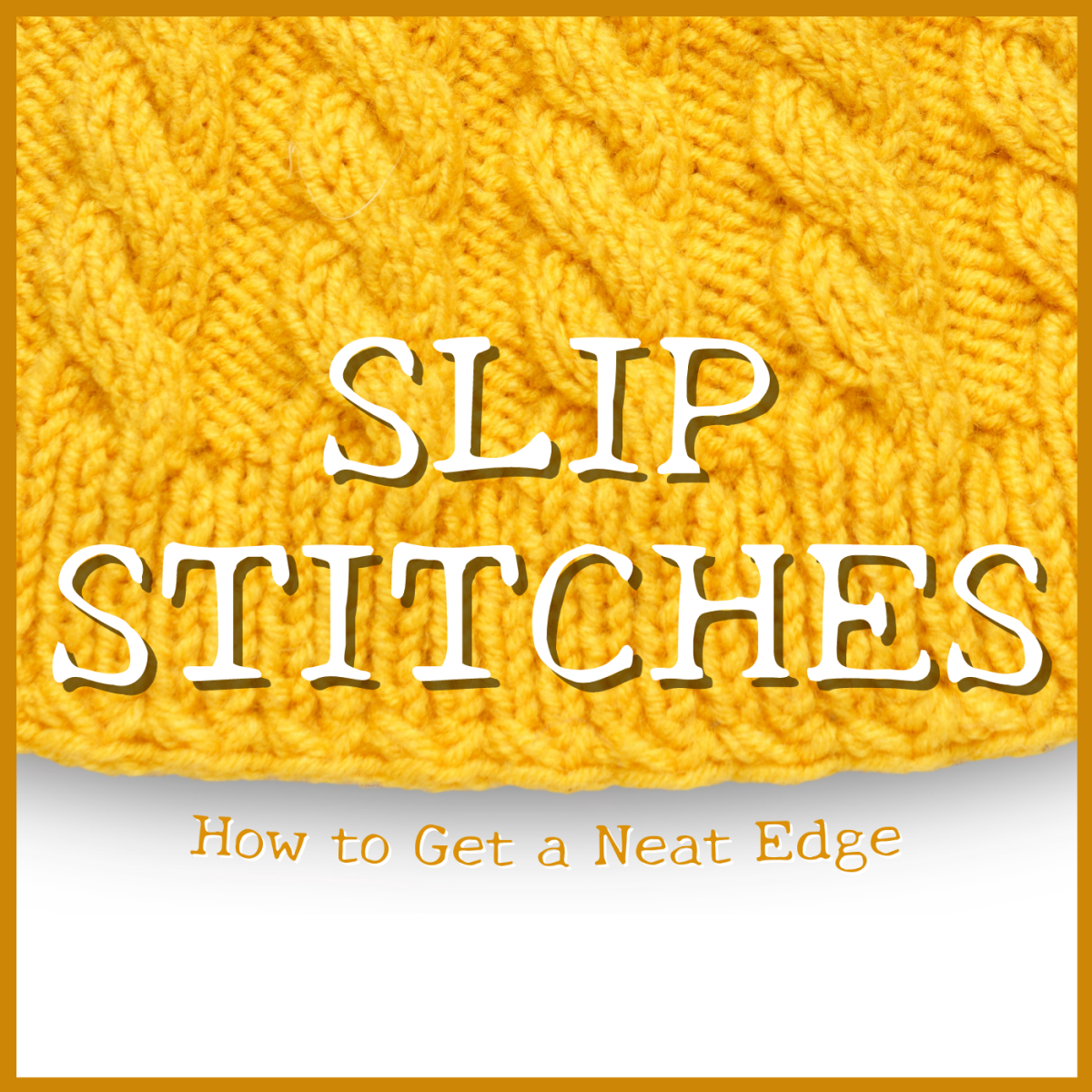 Want to create a neater edge when knitting? Learn why it's important to slip stitch the first or last stitch of each row.