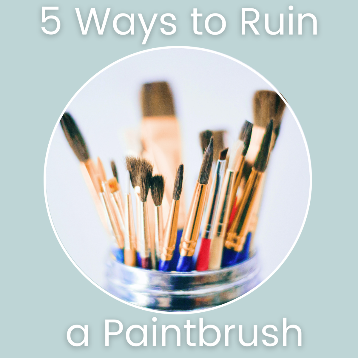 Some common mistakes can quickly ruin paintbrushes. How you clean and store paintbrushes have a huge impact on their lifespan and how they stay in shape. Great tips for beginner artists.