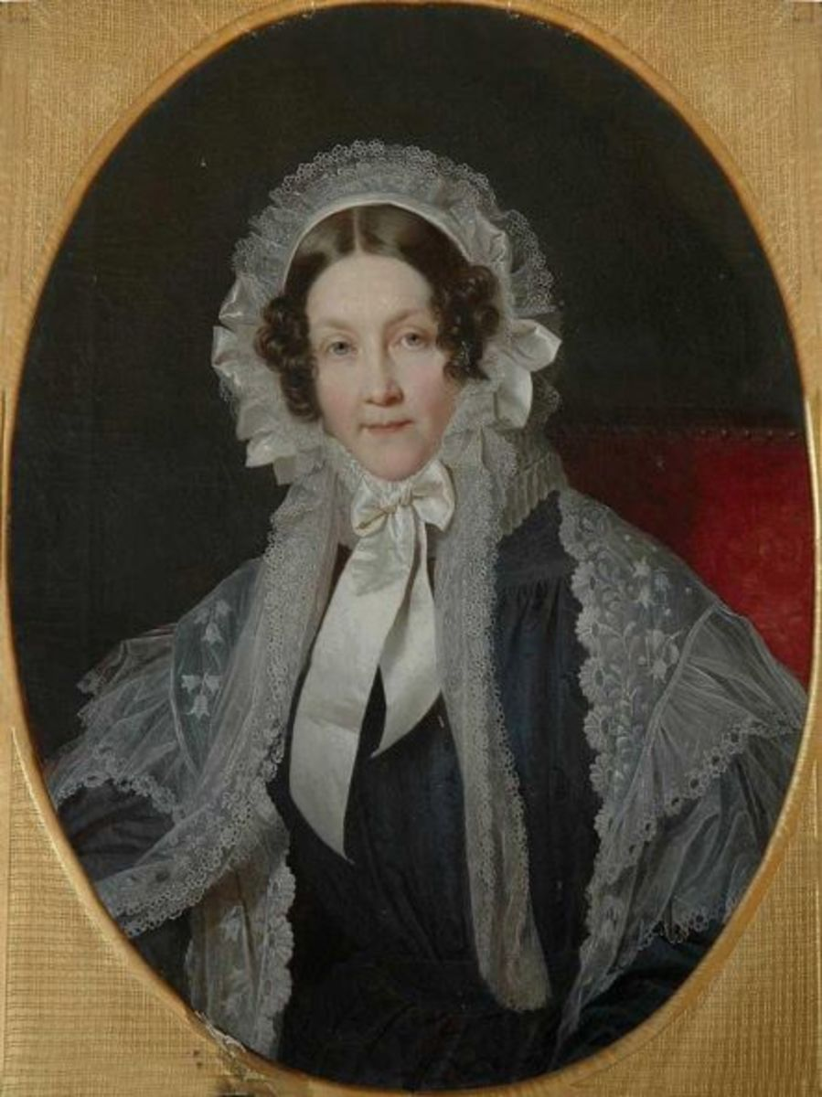Ernest's wife, Frederica of Mecklenburg-Strelitz. Her aunt Queen Charlotte was opposed to the match.