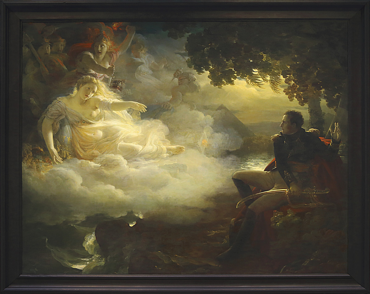 Jean-Pierre Franque's painting Allegory on the State of France before the Return from Egypt, is an excellent presentation of the Napoleonic myth of France calling out for the return of Bonaparte.
