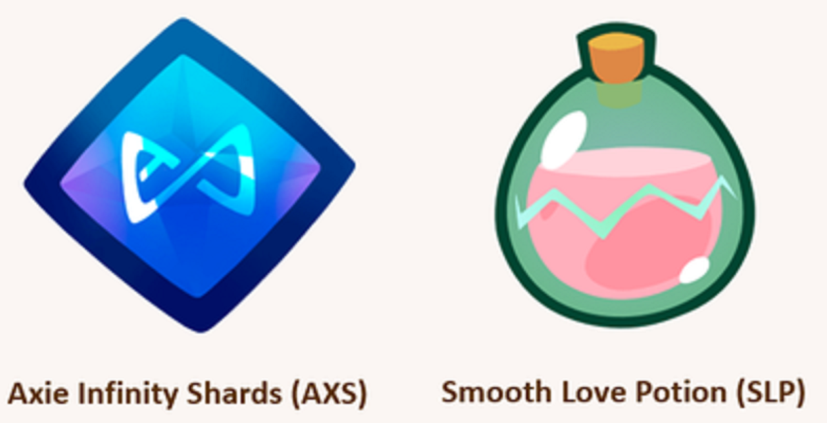 Axie Infinity Shards (AXS) and Smooth Life Potions (SLP) are the Breeding Materials in Axie Infinity