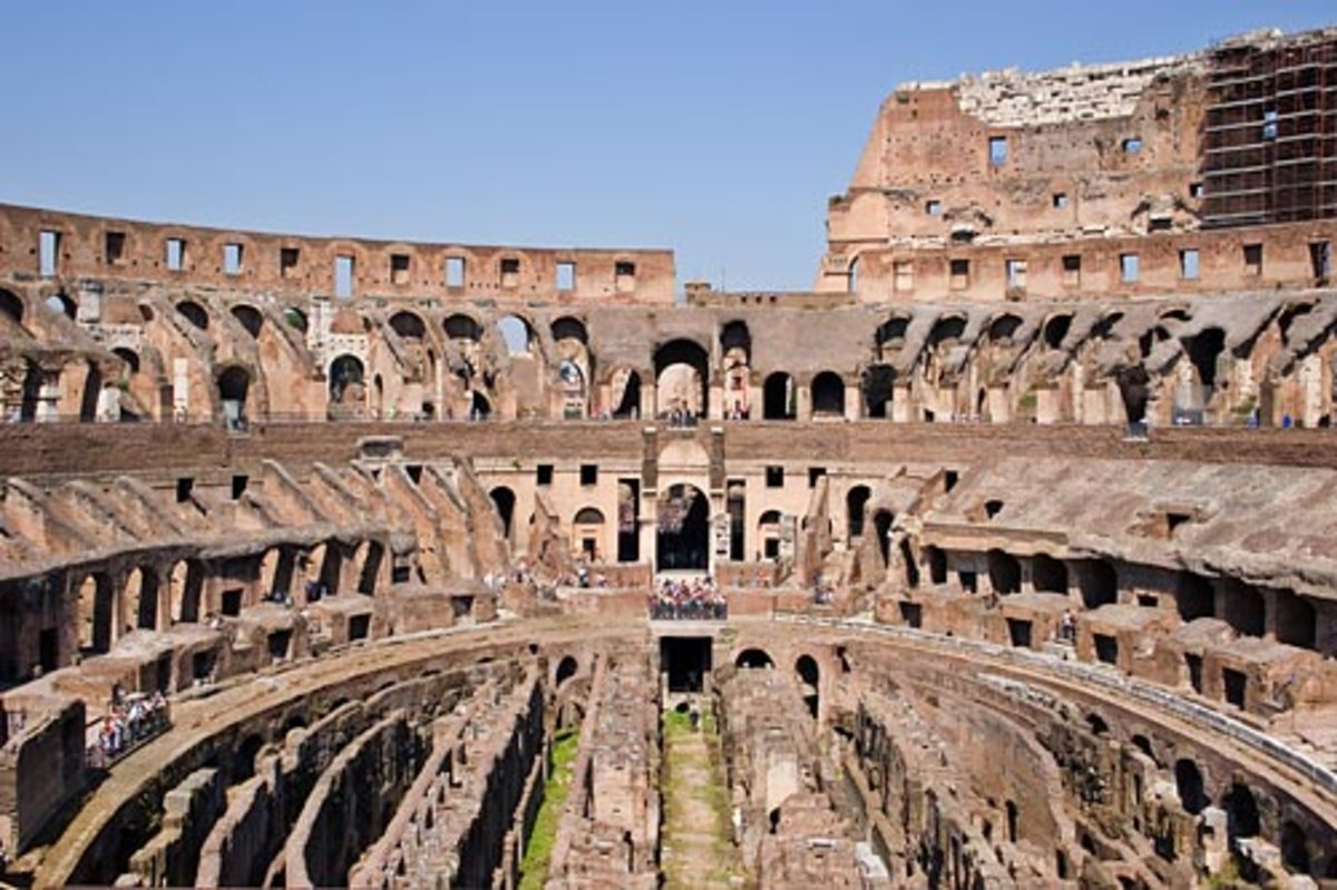 The great Roman Colosseum - Architectural Wonder