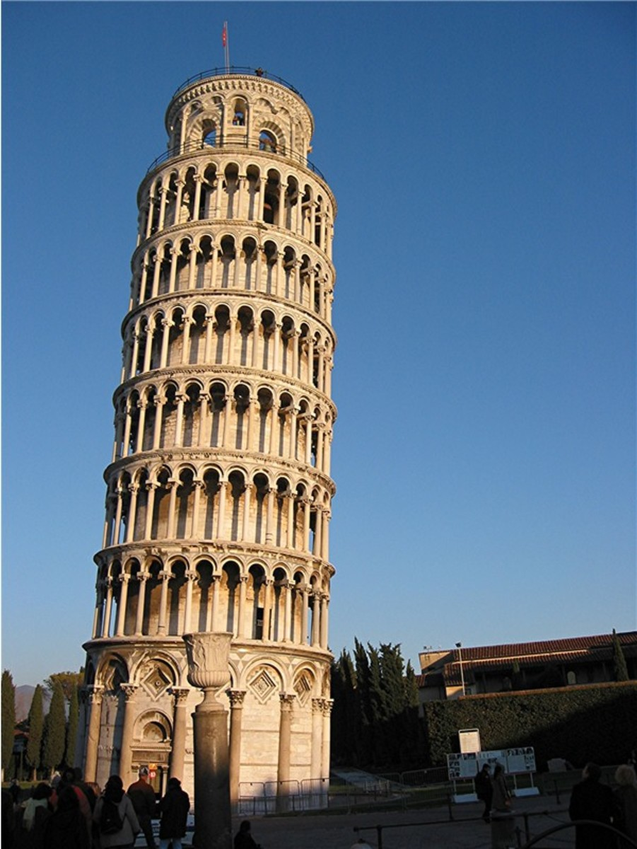 The leaning tower of Pisa - Not planned but is leaning.