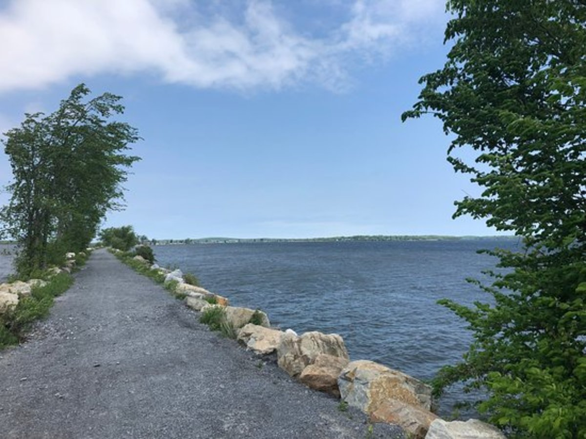Colchester Causeway to Island Bike Ferry in Mallets Bay, VT