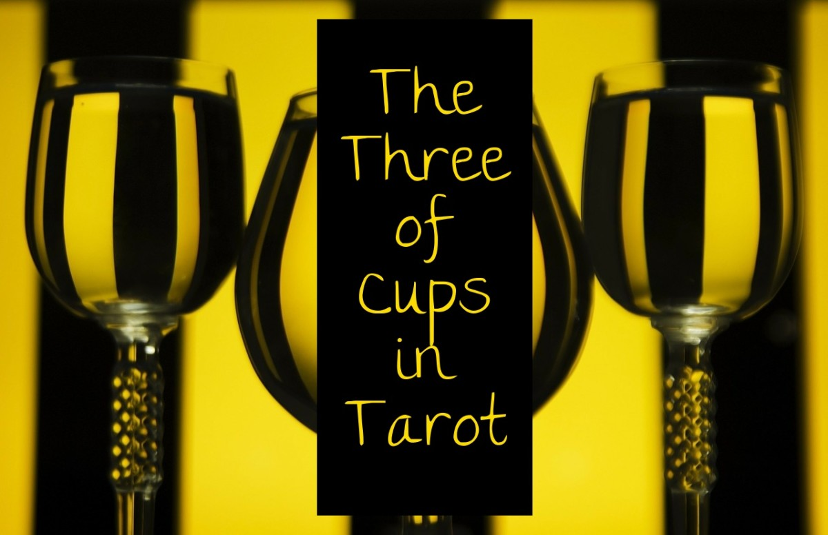 The Three of Cups is associated with celebration. The Three of Cups reminds people of toasts at weddings. Let the wine begin and bring out the roast beef. It's time to party.