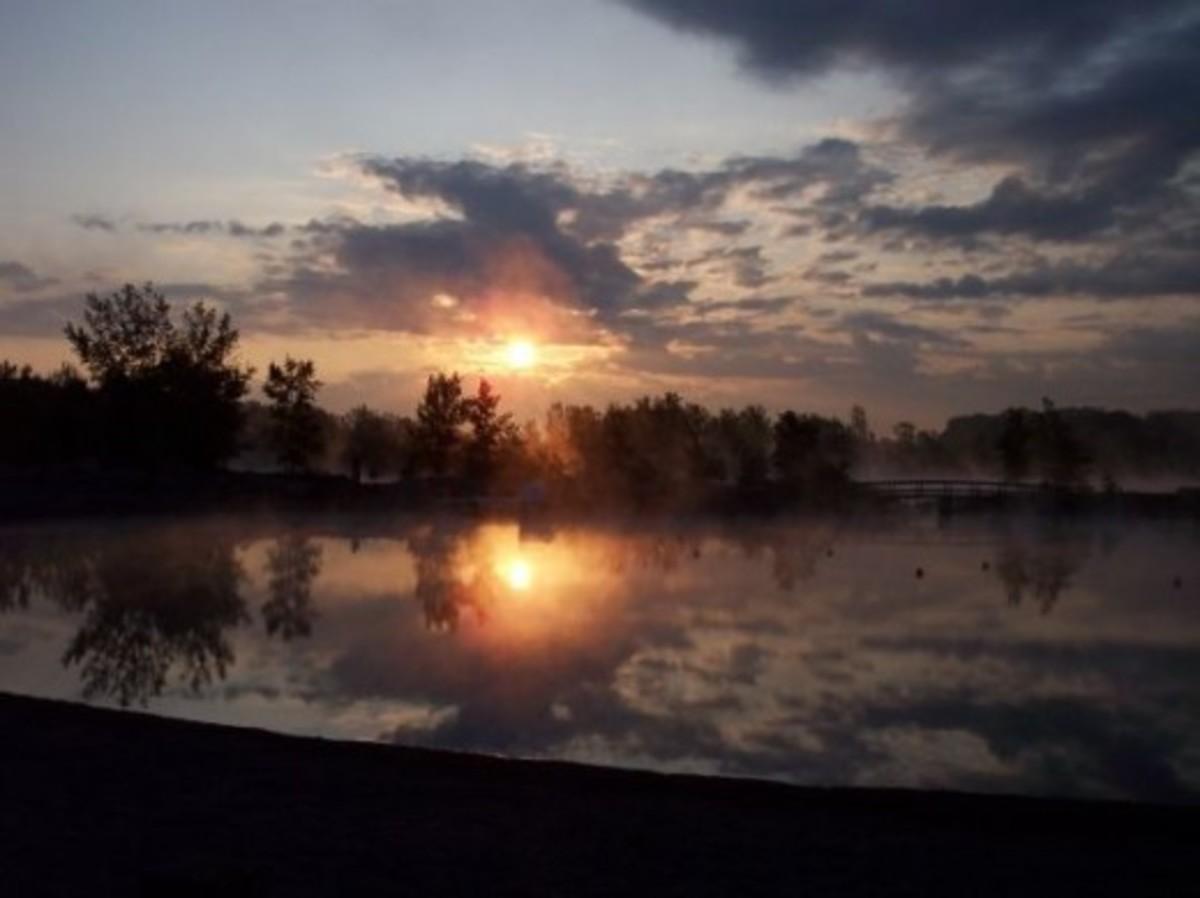 Sunrise at Gravel Ponds