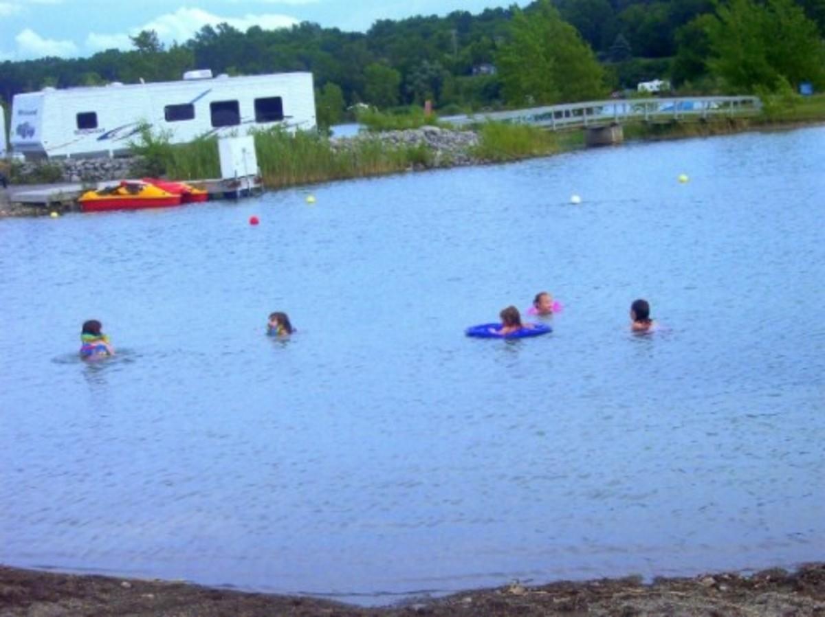 Swimming at Gravel Ponds