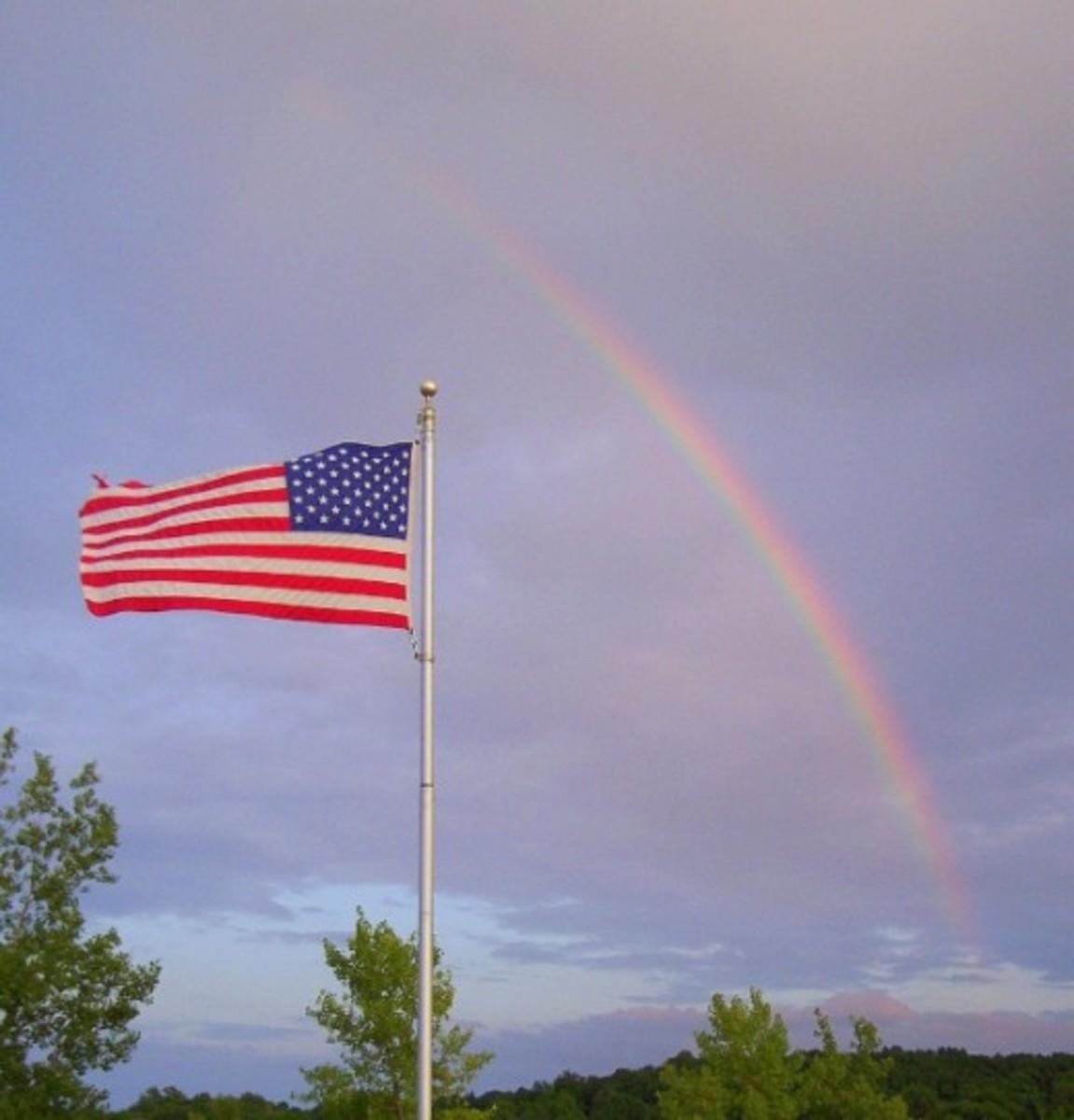 Gravel Ponds, Scottsville, NY Rainbow
