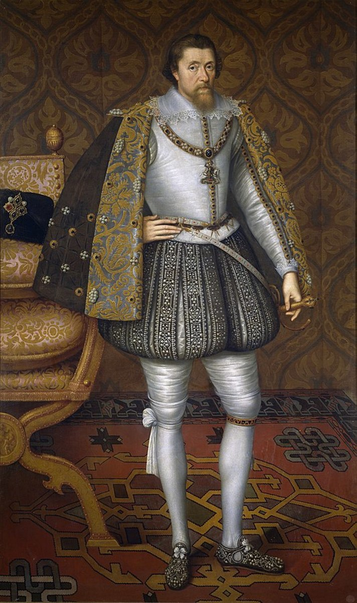 James VI and I (James Charles Stuart; 1566–1625) was King of Scotland as James VI from 1567 and King of England and Ireland as James I from the union of the Scottish and English crowns on 1603 until his death in 1625.
