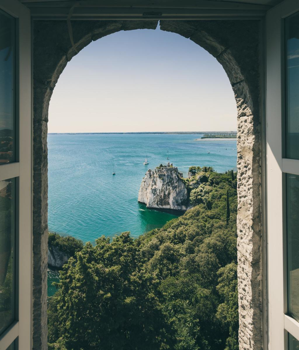 A heart-melting view from a window in Duino, Italy.