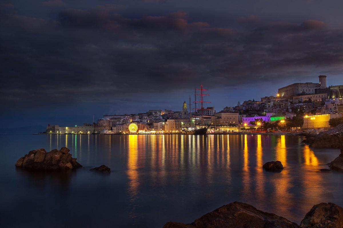 The port side of the Gaeta peninsula.
