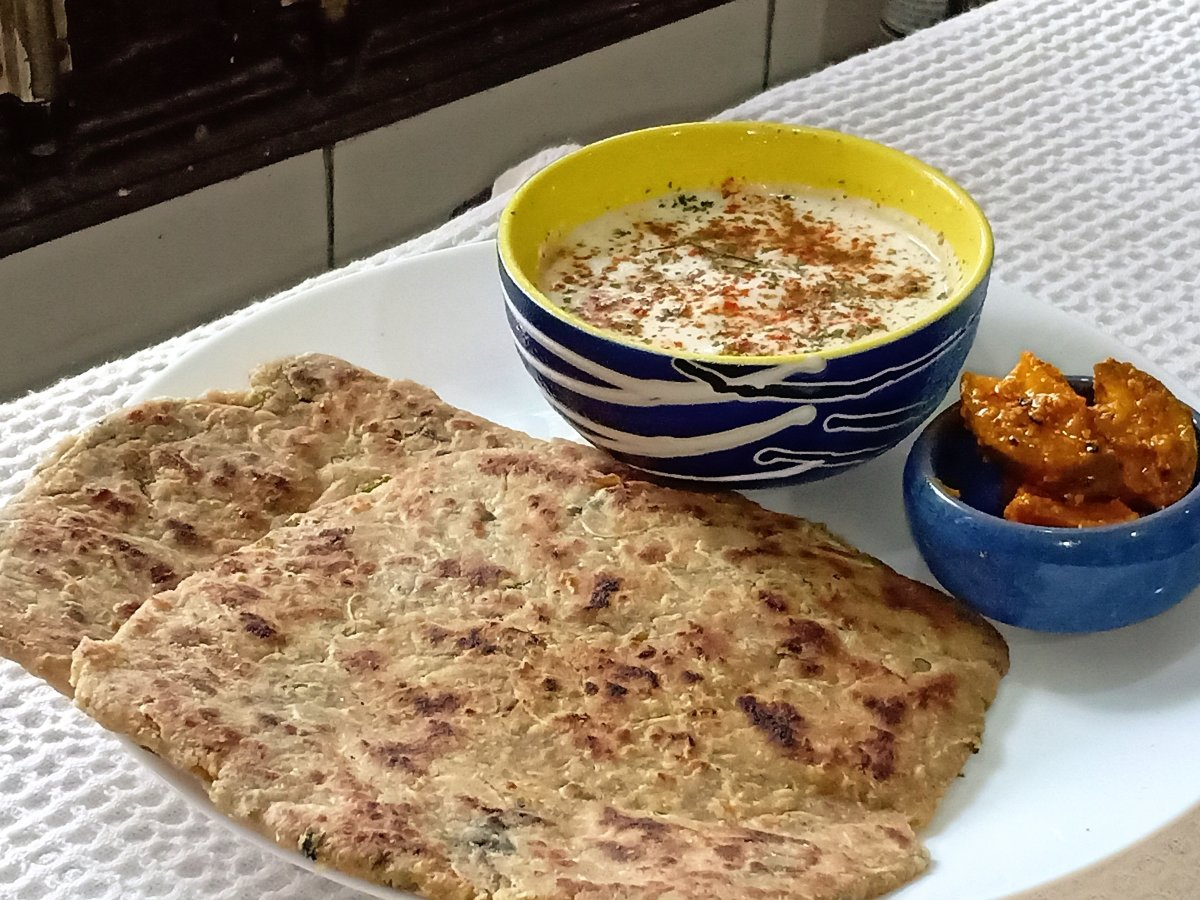 Lauki paratha is made with bottle gourd