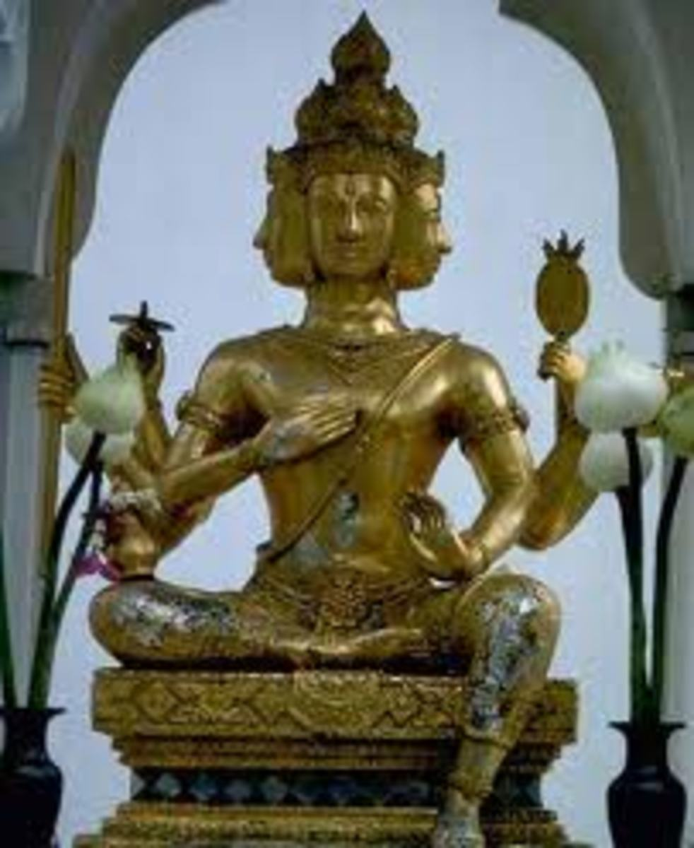 This is an Indian god. The Indus religions have many gods, starting with Brahman. The Indus religions believe in many spiritual things and reincarnation, therefore the spirit or soul may live several lives.