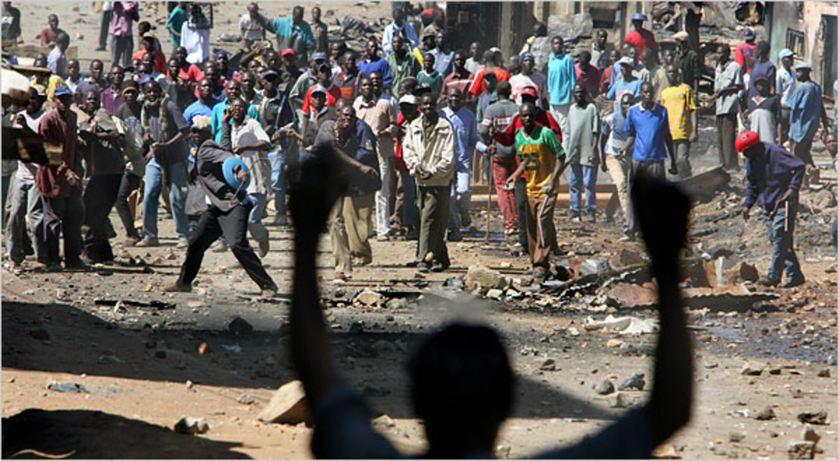 Rowdy youth during the 2007 post election violence