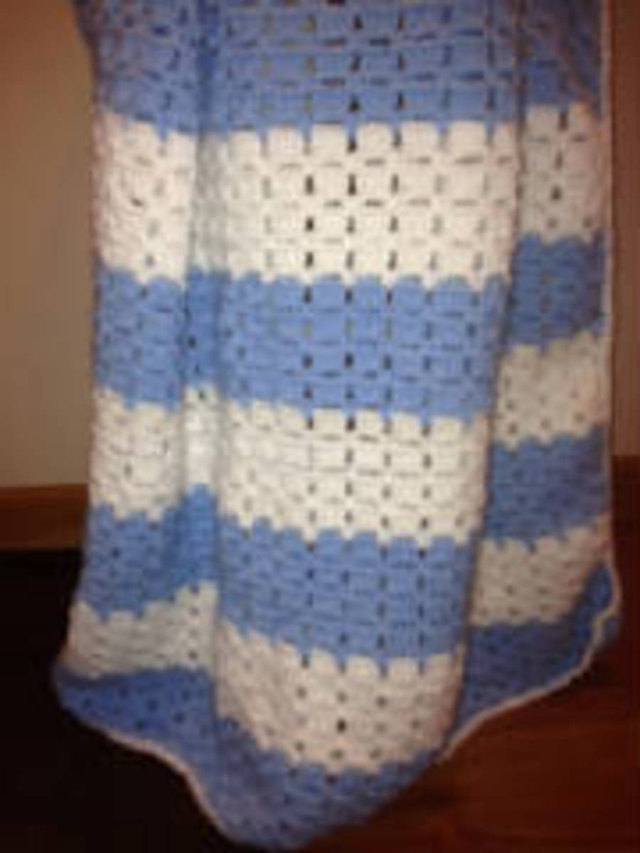 Colton's Baby Blanket - Barb's Crochet