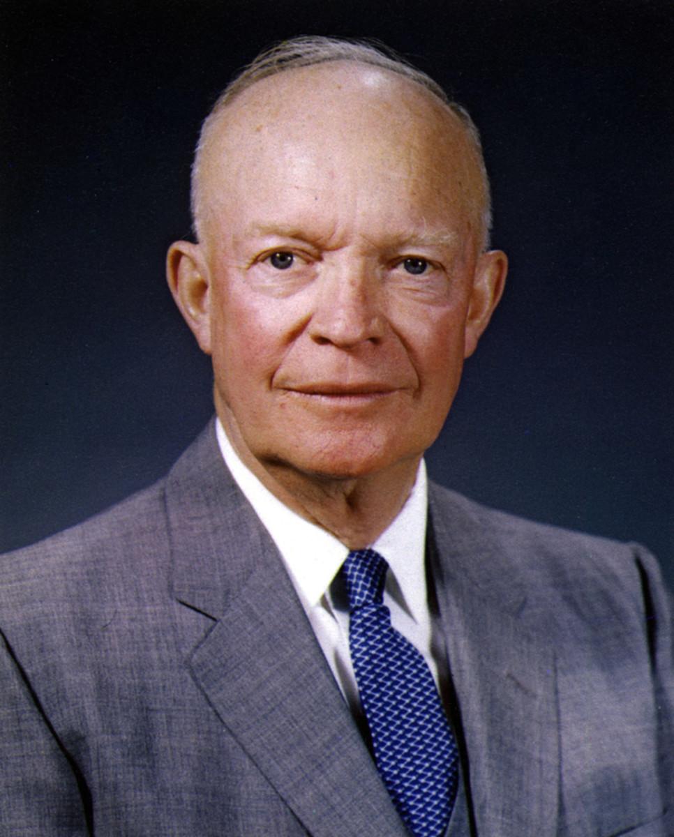 President Dwight D Eisenhower.  President from 1953 to 1961.