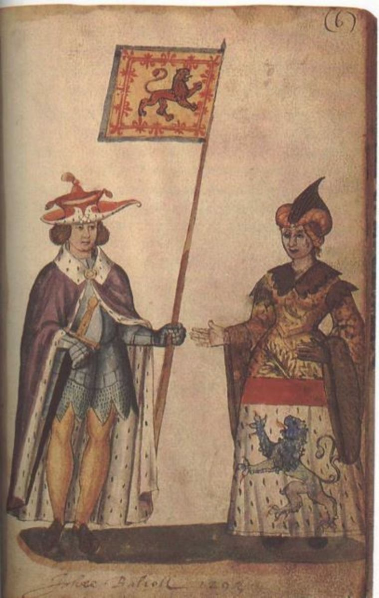 King John Balliol and his wife.