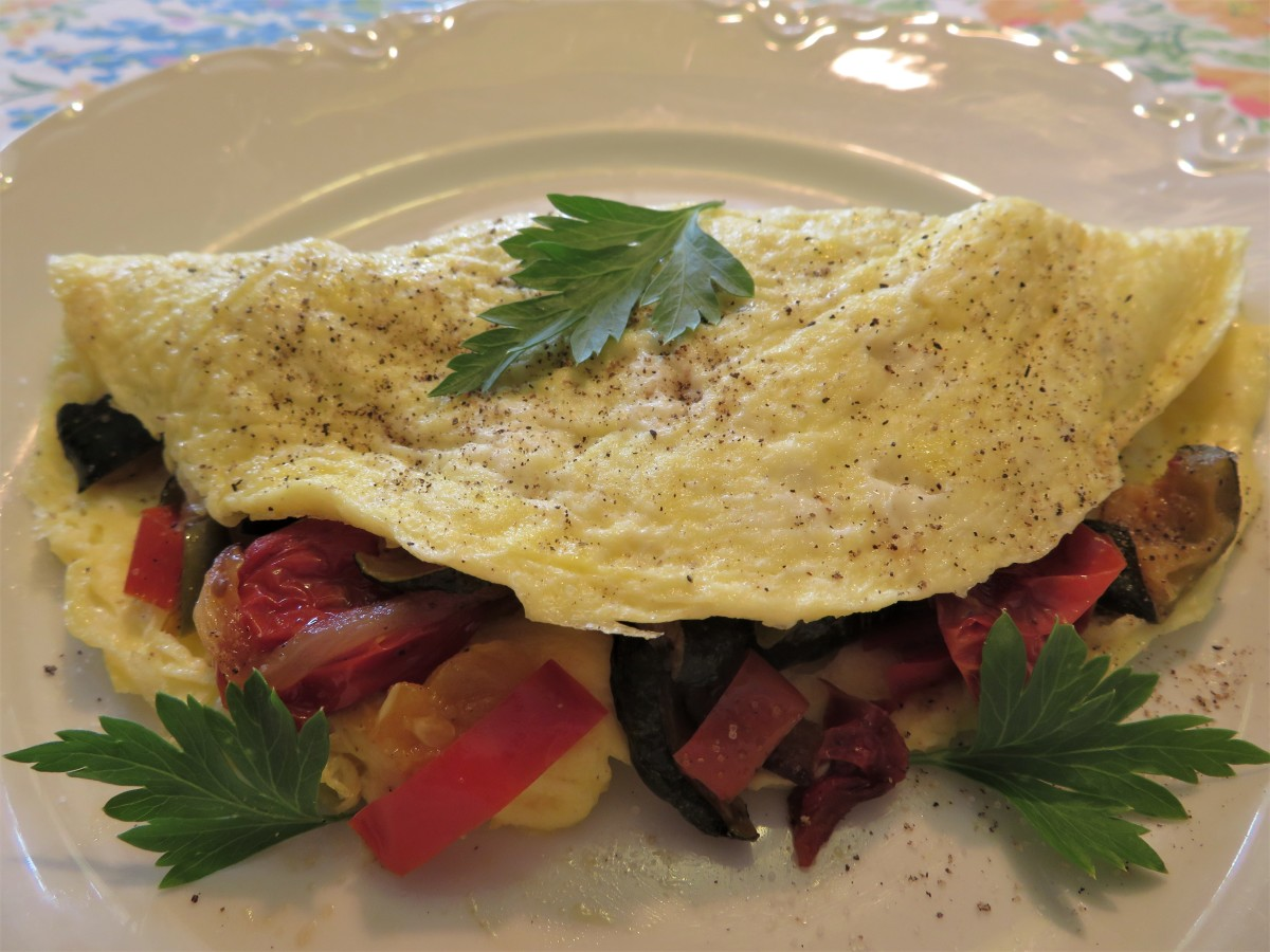 Omelet With Roasted Vegetables