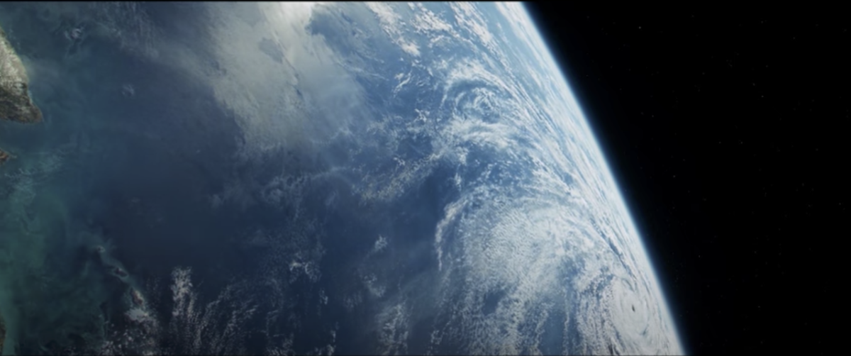 A great shot of earth during the day.