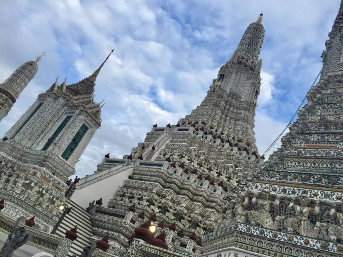 The towers of Wat Arun, the Temple of the Dawn in Bangkok, Thailand