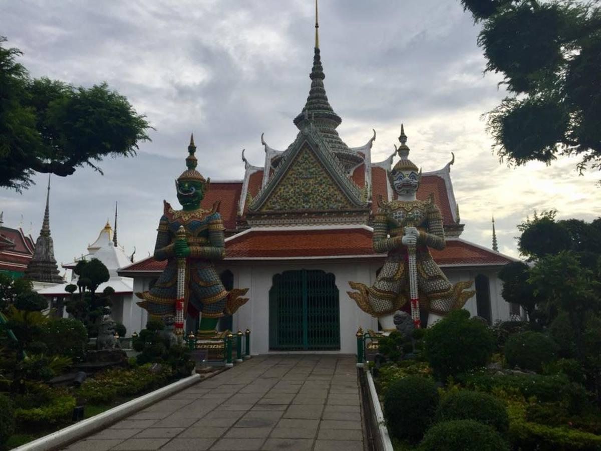Ordination Hall at Wat Arun, the Temple of the Dawn in Bangkok, Thailand