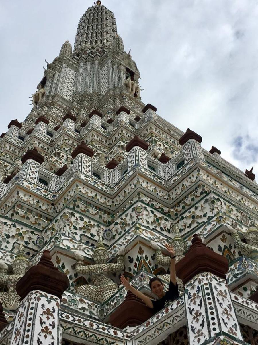 The center tower of Wat Arun, the Temple of the Dawn in Bangkok, Thailand