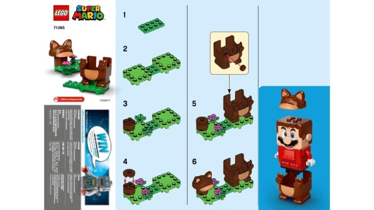 Tanooki Mario Power-Up Pack 71385 Instructions