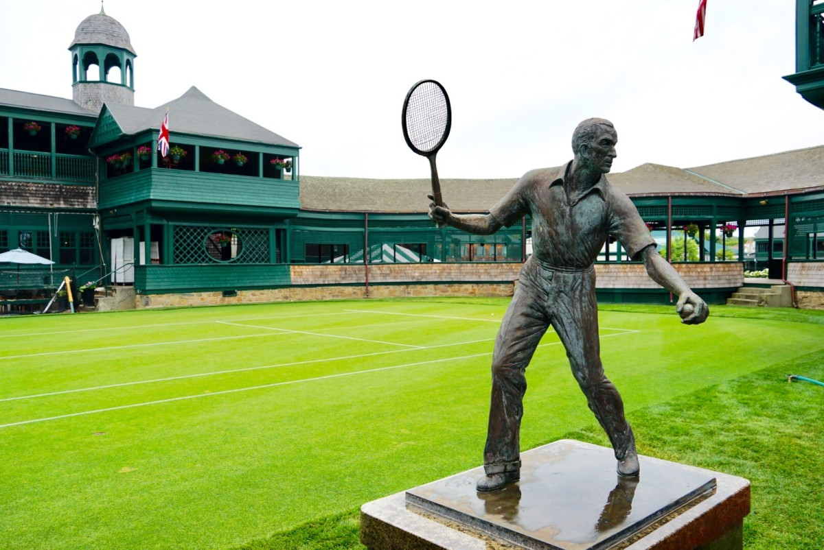 Statue of Fred Perry at the International Tennis Hall of Fame