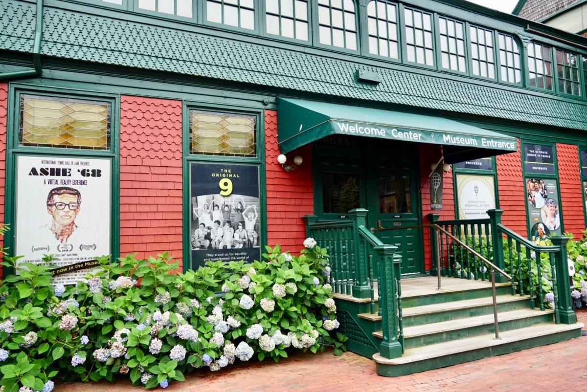 International Tennis Hall of Fame Museum Entrance