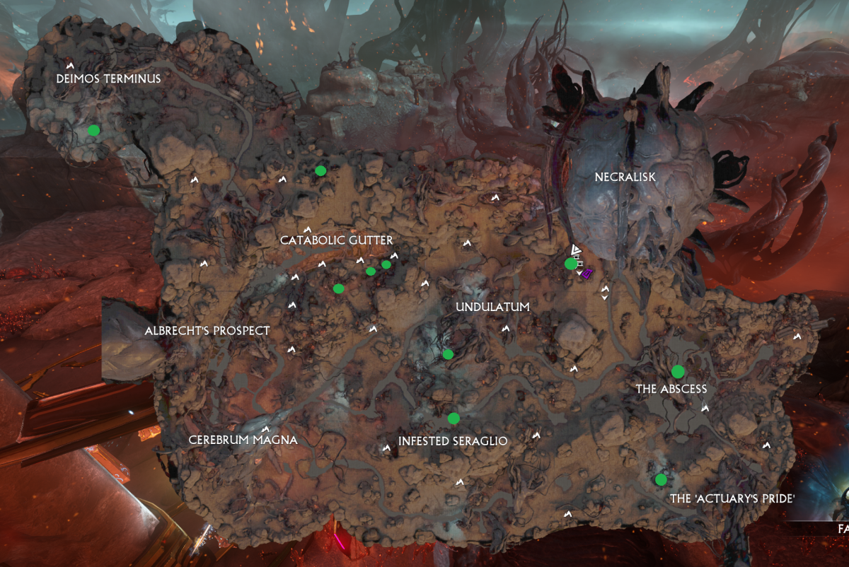 Remember, these are possible spawn locations. Many, but not all of these locations will have an obelisk when going to the Cambion Drift.