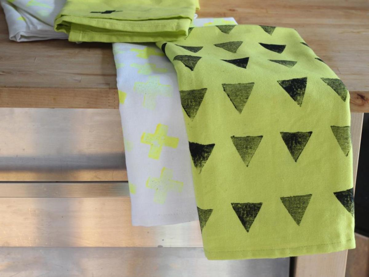 Dish towels are the thickest and most absorbent we've found for this style of towel.