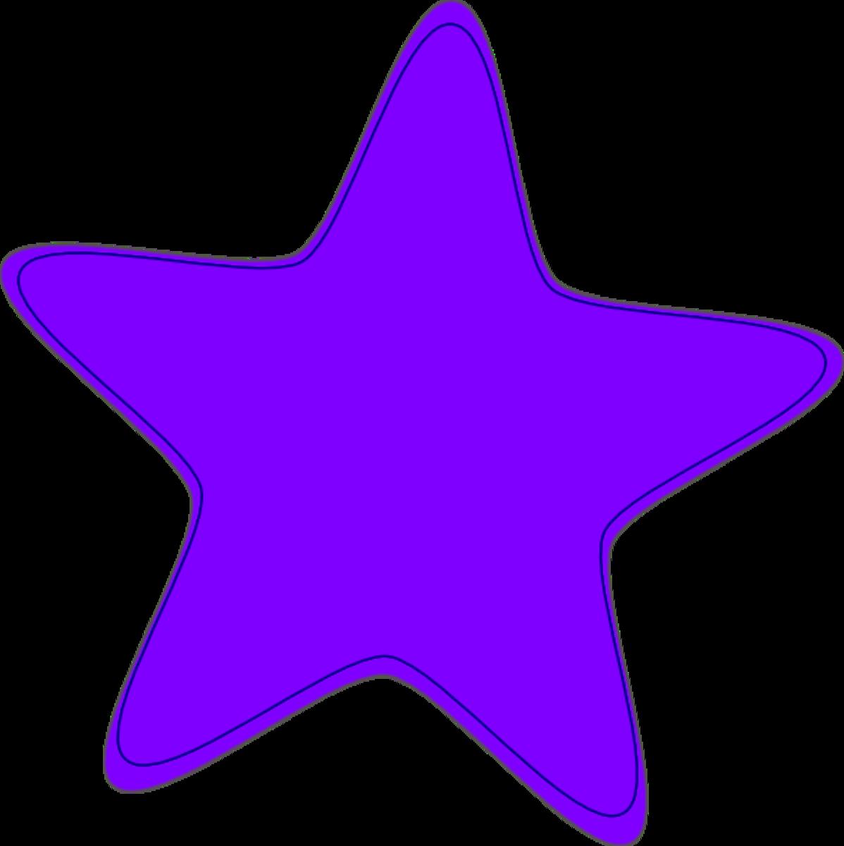 Pretty Purple Star!