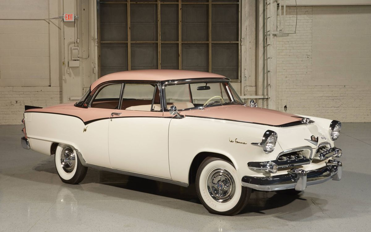 """In 1955 and 1956, Dodge manufactured the """"Dodge La Femme,"""" a full-sized automobile specifically designed for women."""