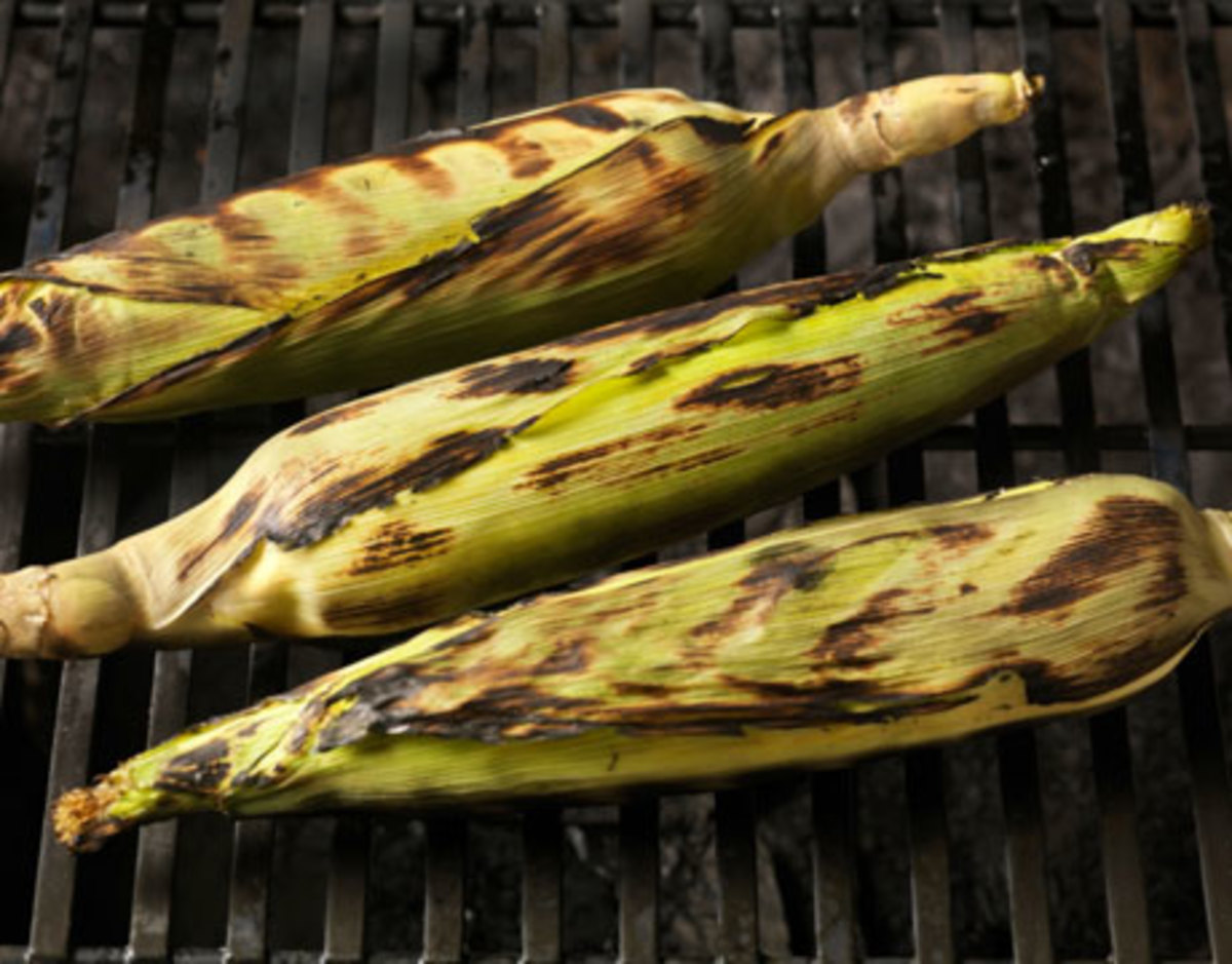 Grill your corn in the shucks after you have removed the silks and you'll end up with wonderful grilled corn.