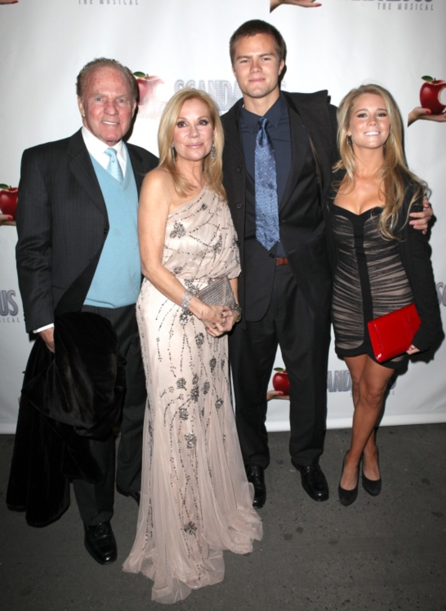 Frank, Kathie Lee, Cassidy and Cody Gifford.
