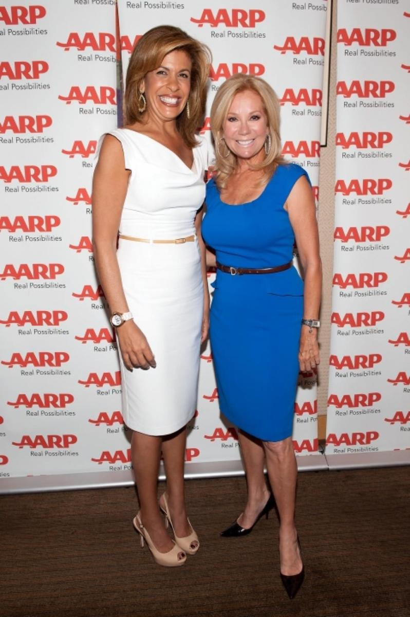Hoda and Kathie Lee at a news variety special.