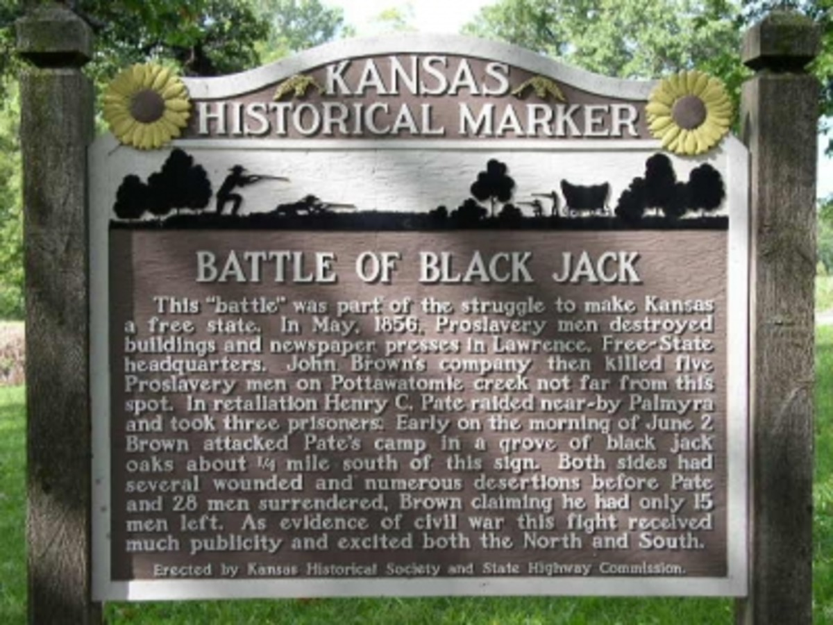 Historical Marker for Blackjack, Kansas