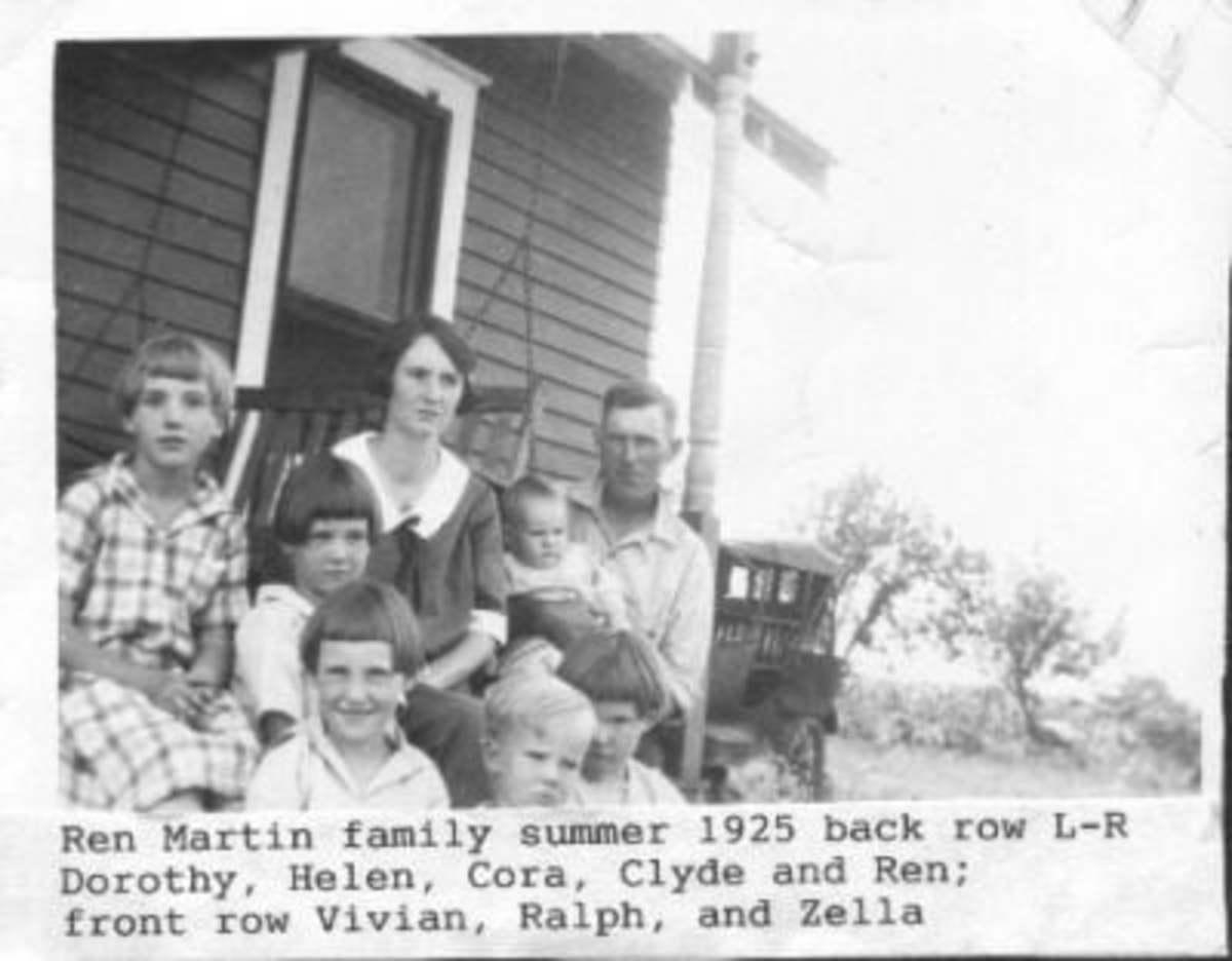 Cora Joy Martin and family of Emporia, Kansas