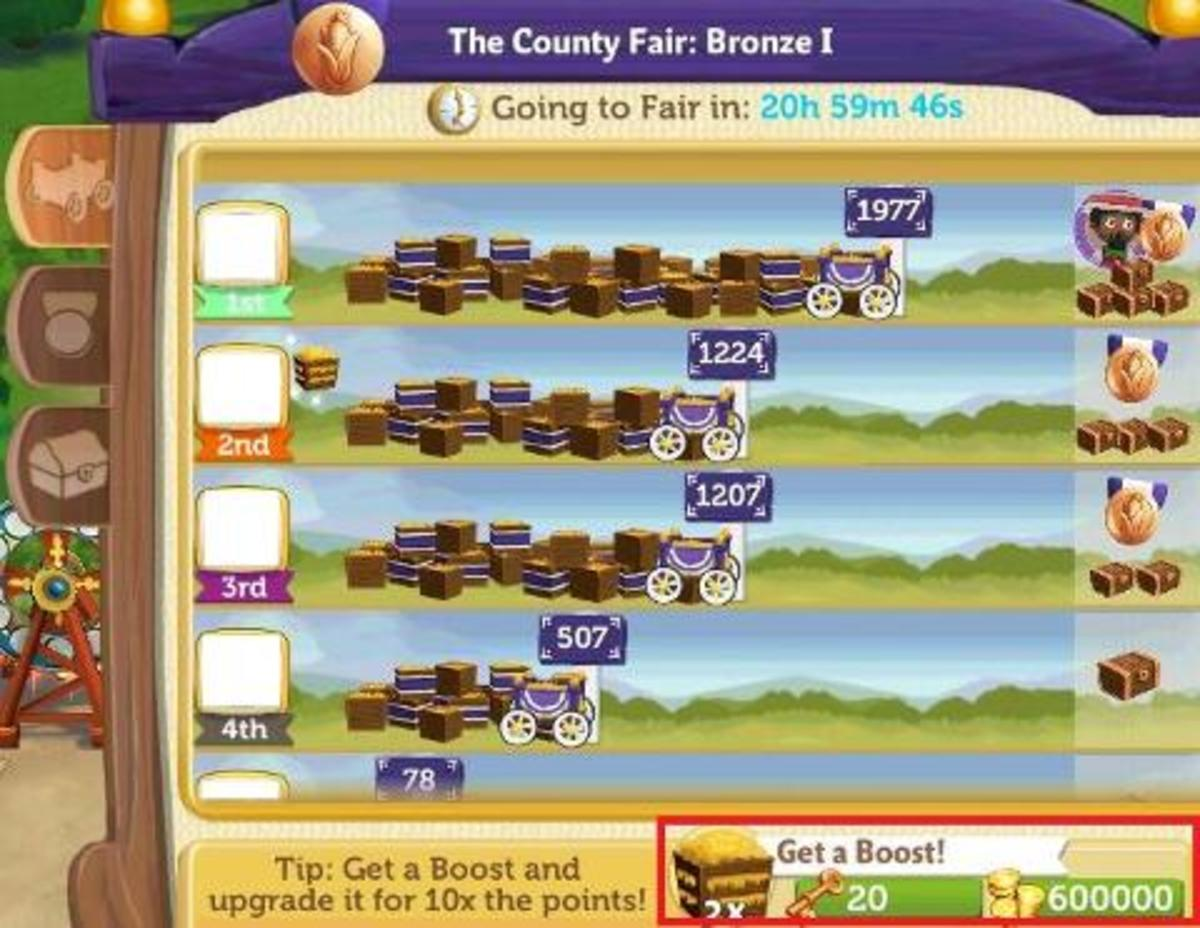 Always consider buying a boost to get 2x or 3x points in the fair!