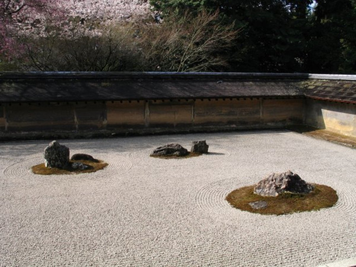 Dry Garden in Ryoanji (Kyoto, Japan)