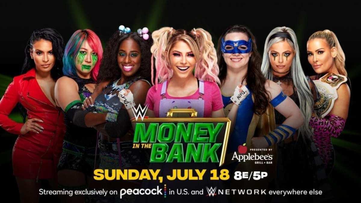 The ladies who competed in the Women's Money in the Bank Ladder match!